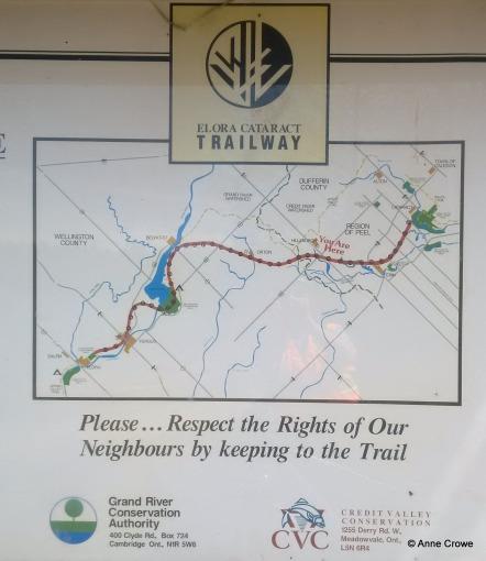 Elora Cataract Trailway Sign