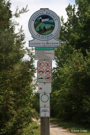 Kissing Bridge Trail Sign