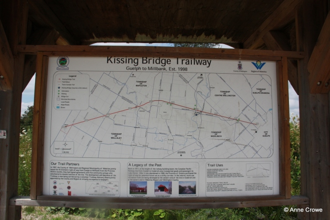 Kissing Bridge Trailway Sign
