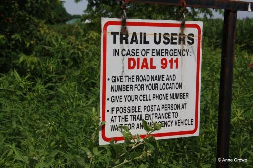 Trail Emergency Sign