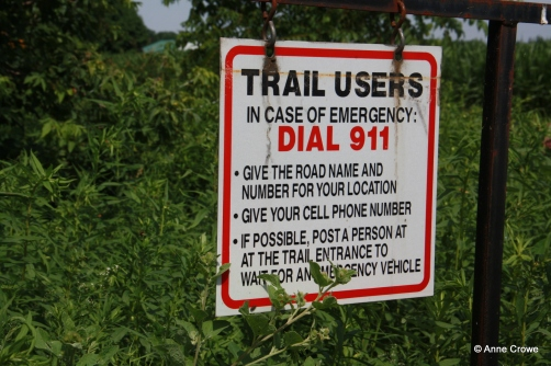 Trail Emergency Sign